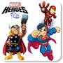Adesivos Super Heróis Marvel Kids Mais Nome De Brinde