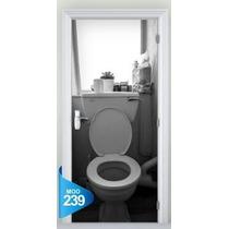 Adesivo 123 Porta Banheiro Vaso Sanitário 239