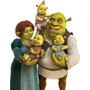 Adesivo Família Shrek Fiona E Bebês - 3 Modelos Para Escolha