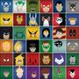 Adesivos De Parede - Azulejos Super Heróis 443 - Marvel - Dc