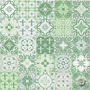 Adesivo De Azulejo Mix Verde 15x15