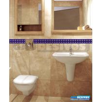 Adesivo Decorativo De Parede Faixa Border Azulejo Banheiro