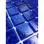 Pastilha De Vidro Azul Em Alto Brilho. 12x Sem Juros.