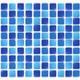 Pastilhas Adesivas Resinadas Azul Mesclada Decore Inove