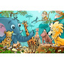 Painel Decorativo Festa Infantil Safari Zoo Animais (mod1)