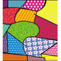 Papel Adesivo Contact Retalho Colorido 45cm X10m