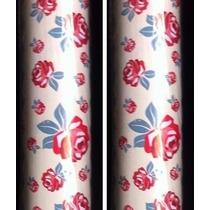 2 Rolos Adesivo Contact Decorado Floral Rosas 45 Cm X10m