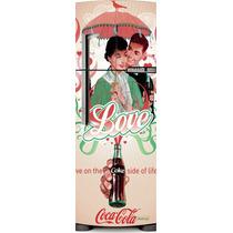 Adesivo Geladeira Coca Cola O Lada Bom Da Vida # 50 (frigoba