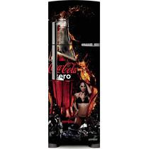 Adesivo Geladeira Coca- Cola Musa # 08 (frigobar)