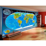 Papel De Parede Mapa Mundi - Mapas M² - Modelos Na Descrição