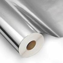 Papel Adesivo Contact Metalizado Espelhado Prata 45cm X 10m