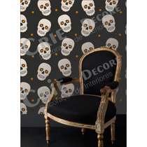 Papel De Parede Caveira Skull Auto-adesivo Diversos Modelos