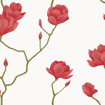 Papel De Parede Bobinex Natural 1449 Rosas Vermelhas Galhos