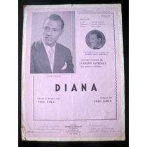 Partitura Antiga Música Diana De Carlos Gonzaga Acordeon
