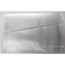 Pasta Plastica Tipo Envelope Para A4 - 10 Unidades