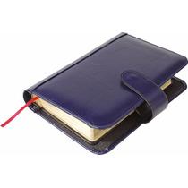 Capa P/ Caderno Em Couro Com Porta Caneta E Bolsol 5518