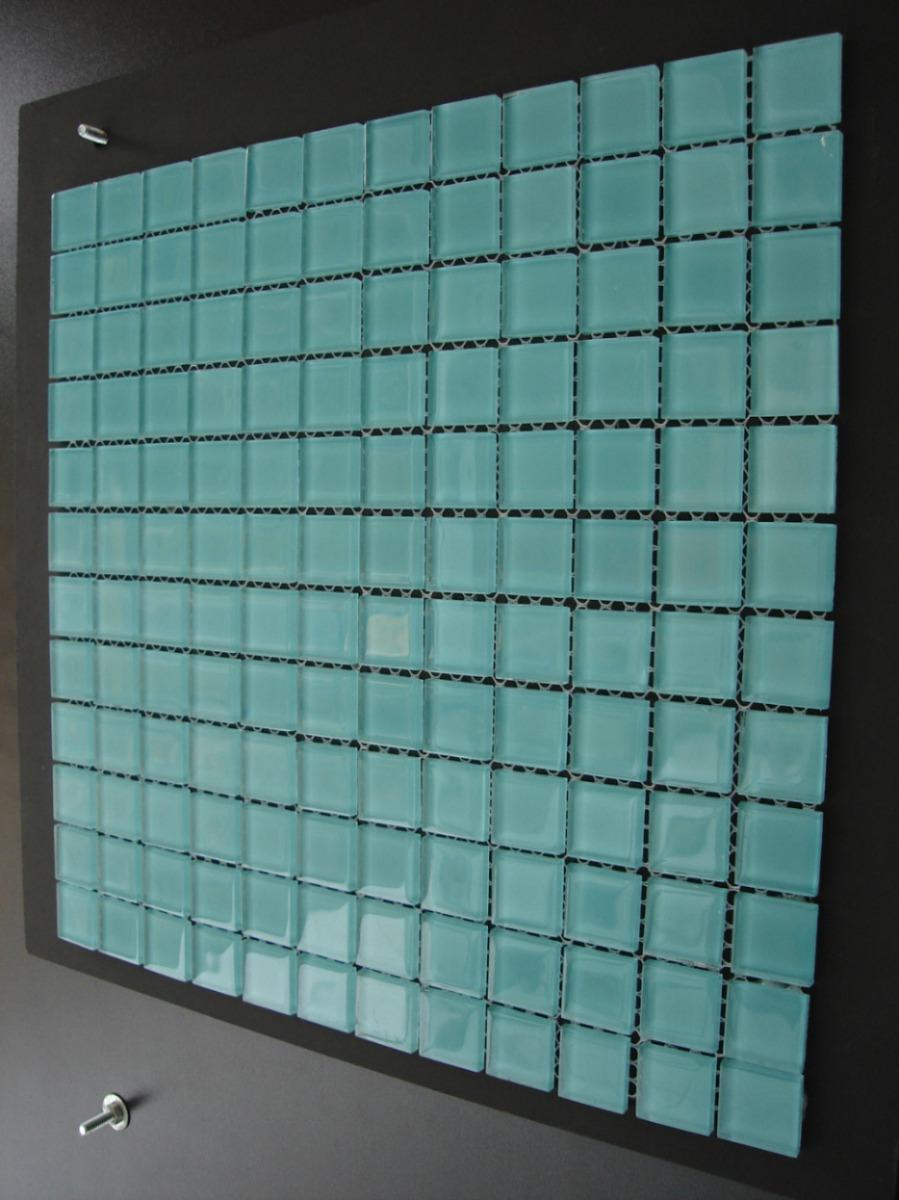 Pastilha Verde Água De Vidro Cristal De Alto Brilho R$ 9,90  R$ 9,90 no Merc -> Banheiro Com Pastilha De Vidro Verde Agua