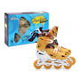 Patins Bel Sports Infantil In Line Roller Estampado P 34 37