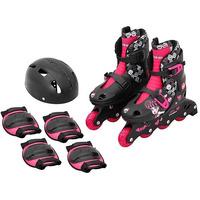 Patins Roller Infantil Monster High Ajustável 33 Ao 36 Compl