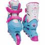 Patins Infantil Frozen 4 Rodas N°33 A 36 Ajustáveis Dtc