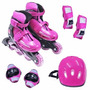 Kit Roller Radical - Bel Sports - Rosa - M - 32 Ao 35