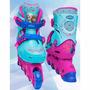 Kit Esportivo Frozen (29 Ao 32) - Patins,capacete,joelheira