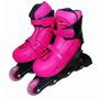 Kit Roller Patins Rosa Completo + Kit Proteção G (38-41)