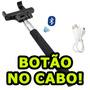 Pau D Selfie Pal Bastão Tirar Fotos Sem Bio Botao No Cabo Bt