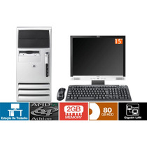 Cpu Micro Hp Athlon 64 Hd 80 Giga 2 Giga Memória + Lcd 15