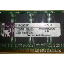 Memória Kingston 512mb Ddr Ddr1 400 Mhz Pc3200