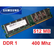 Samsung 512 Mb Ddr1 Memôria Ram Pc3200 400mhz