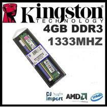 Memória Kingston Ddr3 4gb 1333mhz