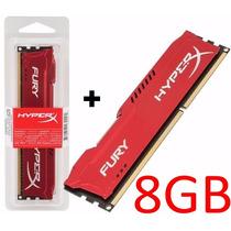 Kit 8gb 2x Memória 4gb Ddr3 1600mhz Kingston Hyperx Red