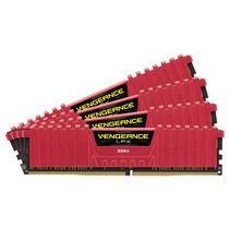 Mémoria Corsair Ddr4 16gb 3000mhz Vengeance Lpx (4x4gb) Red