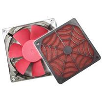 Kit 2 Cooler Ventilador Spider Sff-8 8cm + Filtro 8cm P/ Pc