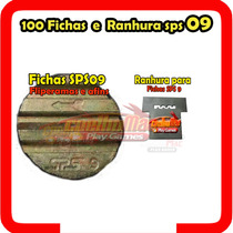 100 Fichas Sps 09 E Ranhura Sps 09 Para Ficheiro Bartop