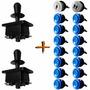 Kit Arcade / Fliperama 2 Players Blue - 2 Comando 18 Botões