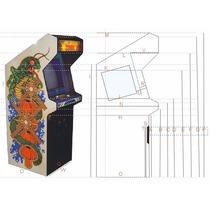 Projeto De Gabinete De Fliper Arcade Games Jogos