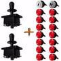 Kit Arcade / Fliperama 2 Players Red - 2 Comando 16 Botões