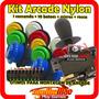 Kit Arcade10 Botões Nylon +comando + Micros Para Fliperama