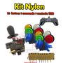 Kit Arcade10 Botões Nylon Comando Micros Controle Usb