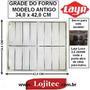 Grade Interna Cromada Para Forno Layr Antigo ( 34x42 Cm )