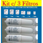 Refil Filtro Vela Purificador Soft By Everest Kit Com 3 Unid