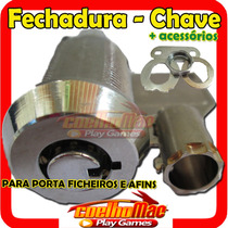 10 Fechadura + 10 Chave Para Porta Ficheiros E Afins