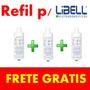 Filtro Refil Para Purificador Acqua Flex Libell - 3 Peças
