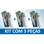 Kit 03 Refis Bebedouro Purificador De Agua Soft Everest Slim