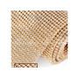 Manta De Strass 22x1,20 Cristal/dourada Alto Brilho