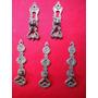 Lote Com 5 Puxadores Vintage De Bronze Para Móveis Antigos