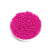 Pérolas Contas Plásticas Pink 5mm Pacote Atacado 50g 800un