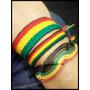 Pulseiras Tornozeleiras Reggae Amizade Jamaica Kit C/3